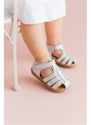 First Step Hakiki Deri Çocuk Sandalet -D-465 Krem